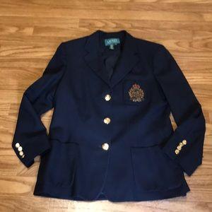 Ralph Lauren Classic Navy Logo Blazer